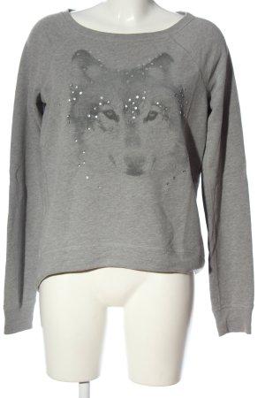 Hollister Sweatshirt hellgrau Motivdruck Casual-Look