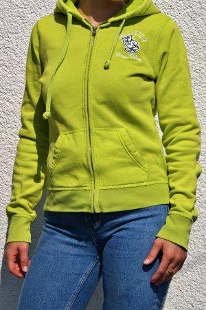 Hollister Sweatshirt Jacke grün Damen