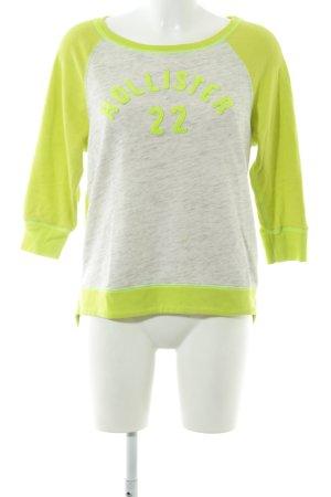 Hollister Sweatshirt limettengelb-hellgrau Casual-Look