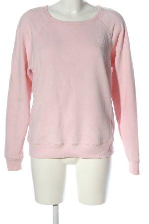 Hollister Sweatshirt pink Schriftzug gestickt Casual-Look