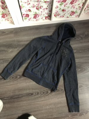 Hollister Sweatshirtjacke kapuzenjacke blau grau Hoodie