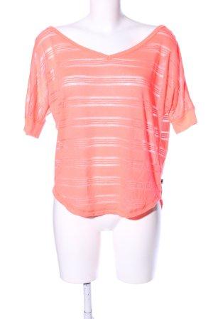 Hollister T-Shirt pink Streifenmuster Casual-Look