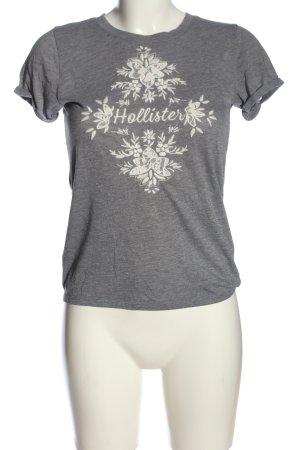 Hollister T-Shirt hellgrau Blumenmuster Casual-Look