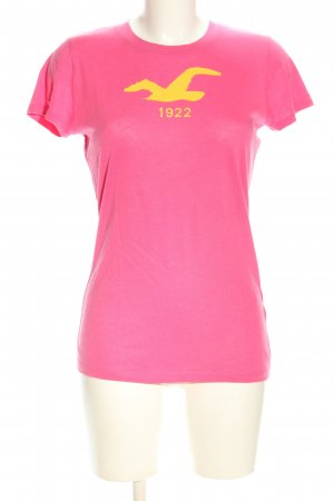 Hollister T-Shirt pink-blassgelb Motivdruck Casual-Look