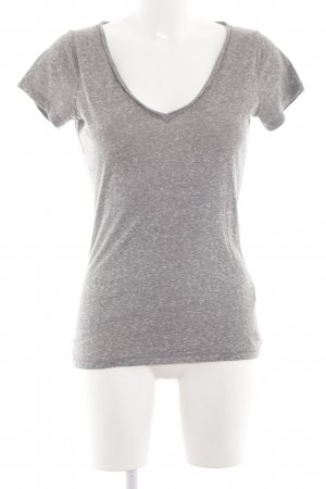 Hollister T-Shirt hellgrau meliert Casual-Look
