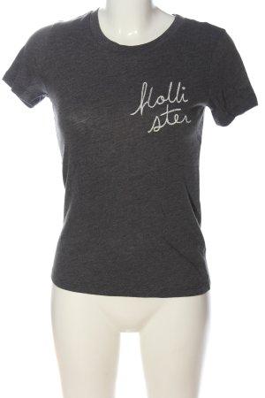 Hollister T-Shirt hellgrau-weiß meliert Casual-Look