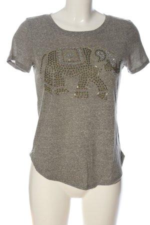 Hollister T-Shirt hellgrau meliert Casual-Look