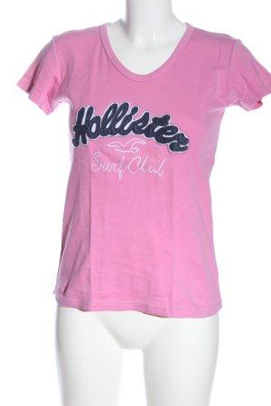 Hollister T-Shirt Schriftzug gedruckt Elegant