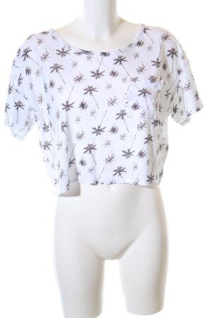 Hollister T-Shirt weiß abstraktes Muster Casual-Look