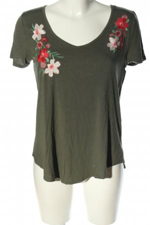 Hollister T-Shirt Blumenmuster Casual-Look