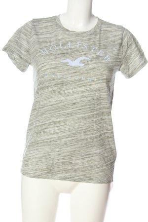 Hollister T-Shirt creme-hellgrau meliert Casual-Look