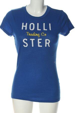 Hollister T-Shirt Schriftzug gestickt Casual-Look