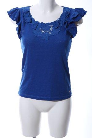 Hollister T-Shirt blau Blumenmuster Casual-Look