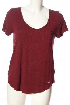 Hollister T-Shirt rot Casual-Look