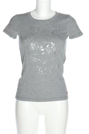 Hollister T-Shirt hellgrau-silberfarben meliert Casual-Look
