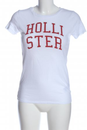 Hollister T-Shirt weiß-rot Casual-Look