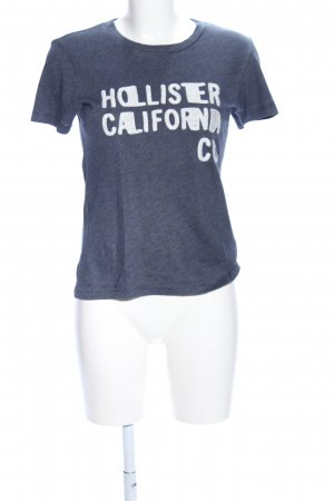 Hollister T-Shirt blau-weiß meliert Casual-Look