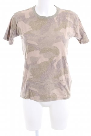 Hollister T-Shirt wollweiß-khaki Camouflagemuster Casual-Look
