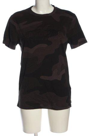Hollister T-Shirt braun Camouflagemuster Casual-Look