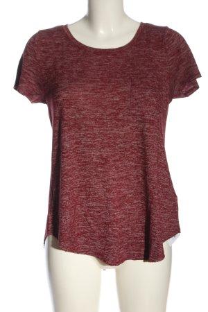 Hollister T-Shirt rot-weiß Casual-Look