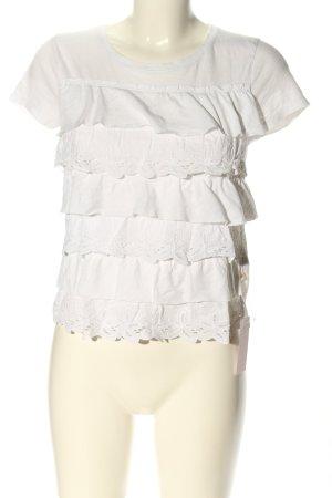 Hollister T-shirt biały W stylu casual