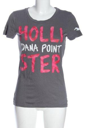 Hollister T-shirt lettrage imprimé style décontracté