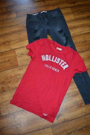 Hollister T-Shirt Gr. 36 Rot
