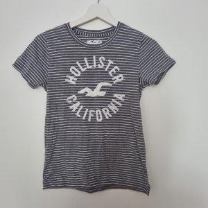 Hollister T-Shirt grau gestreift