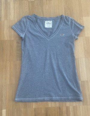 Hollister T-Shirt in dunkelgrau Gr. S