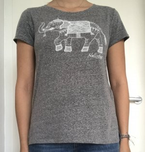 Hollister T-Shirt in Grau mit Elephantenmotiv