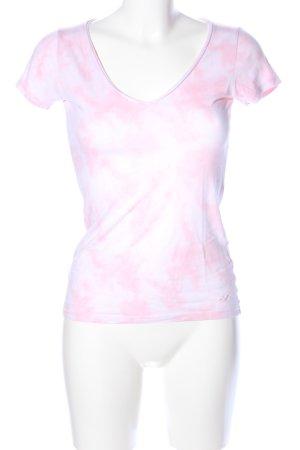 Hollister T-Shirt pink-weiß Allover-Druck Casual-Look