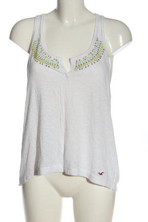Hollister Camiseta sin mangas blanco look casual