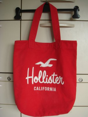 Hollister Pouch Bag red-white cotton