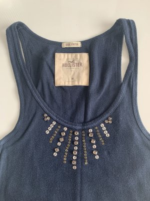 Hollister Camicia a coste blu scuro