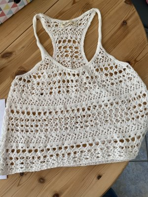 Hollister Top a uncinetto bianco