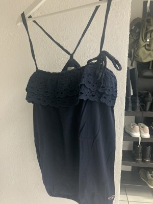 Hollister Top di merletto blu scuro-blu