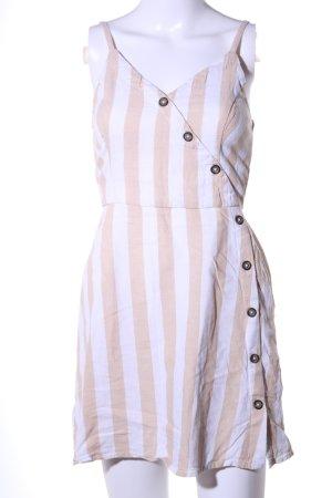Hollister Abito scamiciato bianco-crema motivo a righe stile casual