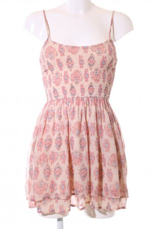 Hollister Trägerkleid creme-pink Allover-Druck Casual-Look