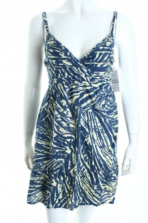 Hollister Trägerkleid dunkelblau-blassgelb abstraktes Muster Beach-Look
