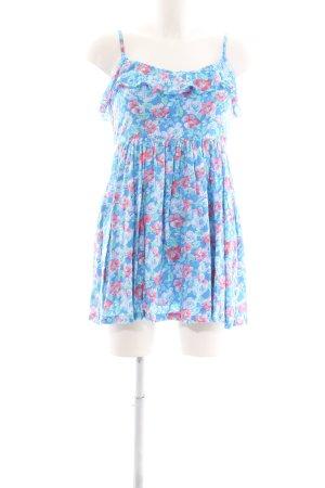 Hollister Trägerkleid blau-pink Blumenmuster Casual-Look