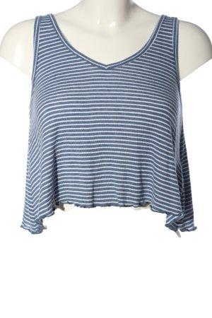 Hollister Trägertop blau-weiß Streifenmuster Casual-Look