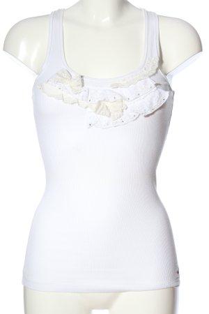 Hollister Trägertop weiß-wollweiß Casual-Look