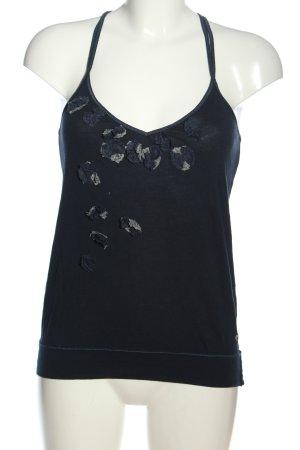 Hollister Trägertop schwarz-blau Casual-Look