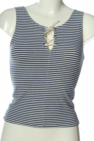Hollister Trägertop weiß-blau Streifenmuster Casual-Look