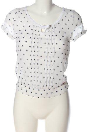 Hollister Transparentna bluzka biały-czarny Na całej powierzchni