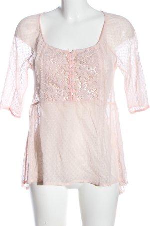 Hollister Transparenz-Bluse pink Casual-Look