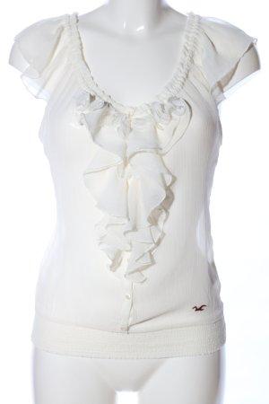 Hollister Transparenz-Bluse wollweiß Elegant
