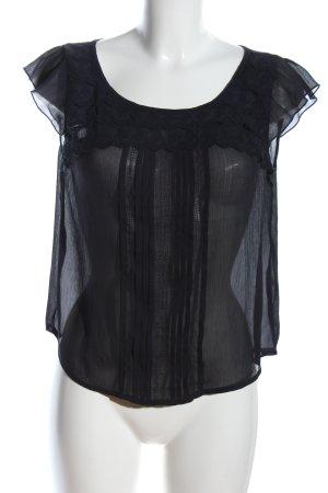 Hollister Transparenz-Bluse schwarz Streifenmuster Casual-Look