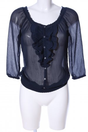 Hollister Transparenz-Bluse schwarz Elegant