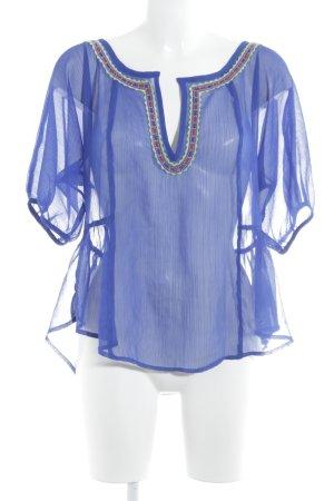 Hollister Transparenz-Bluse mehrfarbig Casual-Look